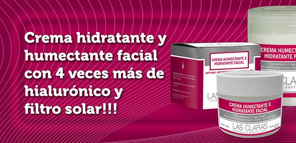 Crema humectante e hidratante facial - hialurónico